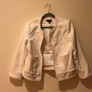 Ann Taylor white jacket.